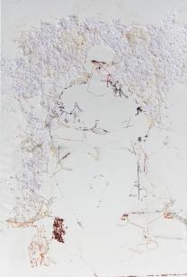 Young man, sitting figure - Darko